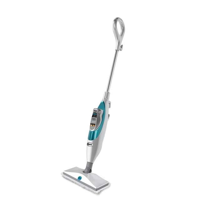 SK410 Shark SK410 Lightweight Steam and Spray Electric Floor Steamer Mop, White & Blue