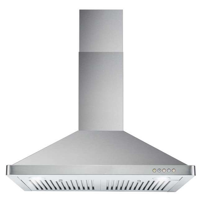 COS-63175 Cosmo COS-63175 30 Inch Wall Mount Range Hood with Push Control, Stainless Steel