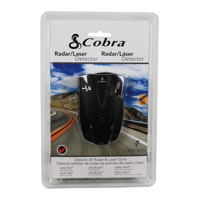 ESD-9275 Cobra 9 Band Police Radar Detector 3