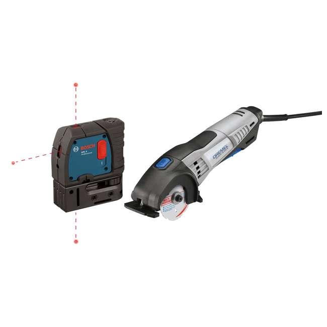 SM20-DR-RT-RB + GPL3-RT-RB Dremel Circular Saw & Level Laser (Certified Refurbished)