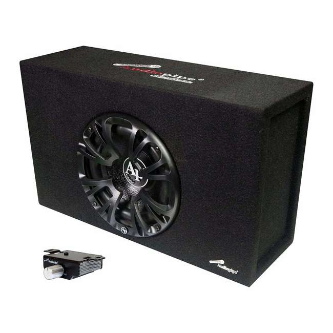 AP-MINIB-800A Audiopipe 8 Inch Powerful 500 Watt Amplified Single Ported Bass Enclosure, Black 1