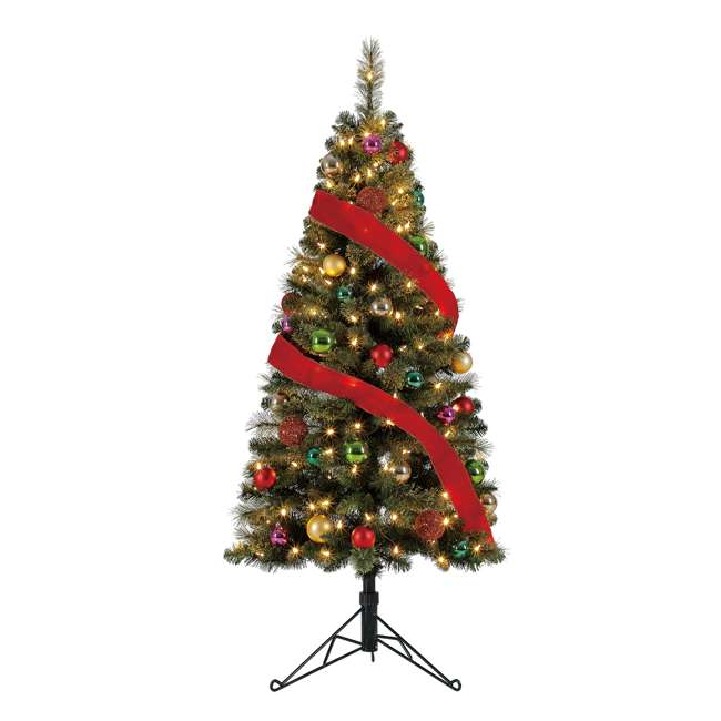 TV50M3AVBL00 Home Heritage Cashmere 5 Foot Artificial Corner Christmas Tree with LED Lights 2