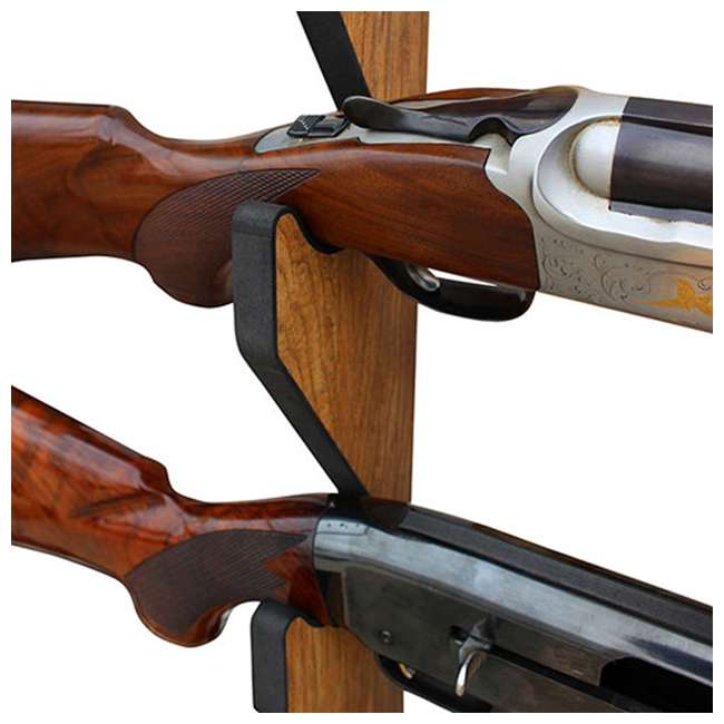 38-4044 Rush Creek Creations 38-4044 5 Rifle and Shotgun Wall Rack, American Cherry 4