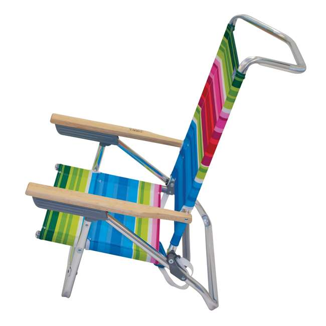 ASC590-1803-1 Rio Classic 5 Position Aluminum Lay Flat Folding Beach Lounge Chair, Beach Club 2