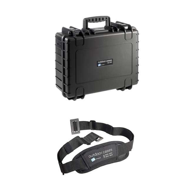 5500/B/SI + CS/3000 B&W International 5500/B/SI Outdoor Case w/ SI Foam Insert & Shoulder Strap