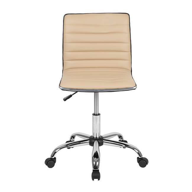 DS-512B-TAN-GG Flash Furniture Swivel Foam Molded Seat Dual Wheel Casters Chair, Glossy Tan 3