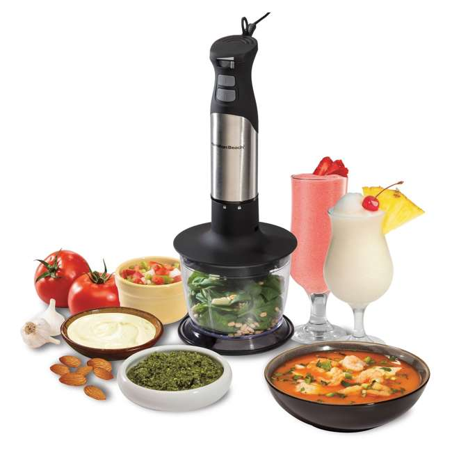 59766 + BLEND-BIBLE Hamilton Beach 59766 Variable Speed Hand Blender with The Blender Bible Cookbook 3