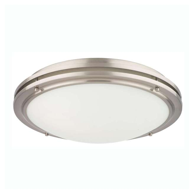4 x PLC-F245036U-U-A Philips Forecast Light Glass Ceiling Flushmount, Satin Nickel(Open Box) (4 Pack)