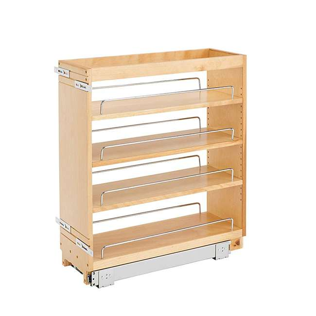 448-BC-8C-16 Rev-A-Shelf 448-BC-8C Base Cabinet Pullout Organizer w/ Wood Adjustable Shelves