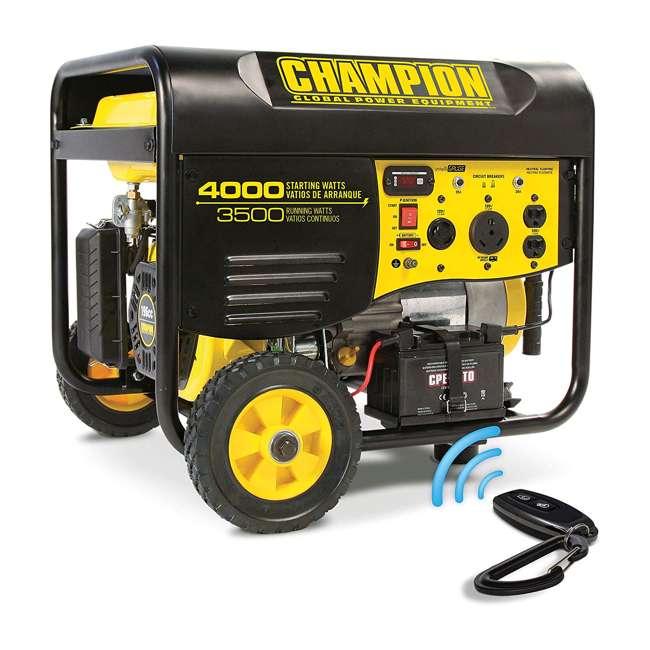 CPE-GN-46539 Champion 46539 Portable Wheeled Wireless Start Gas Powered 3500 Watt Generator