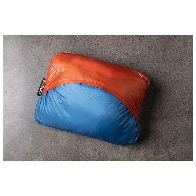 "13VBOR01C Klymit Versa 58 x 80"" Lightweight Polyester Camping Blanket & Comforter, Red 3"