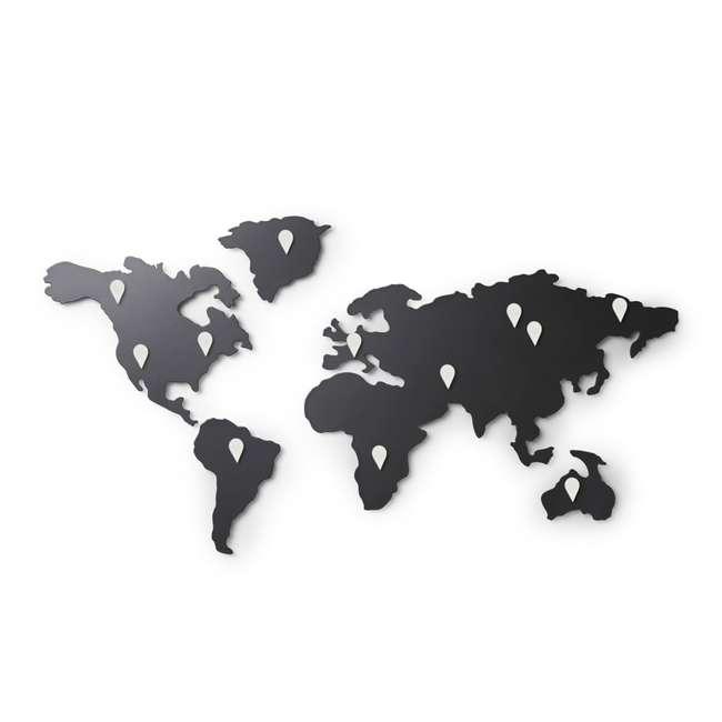 1008050-624 Umbra Mappit Metal World Map Wall Art Decor 2