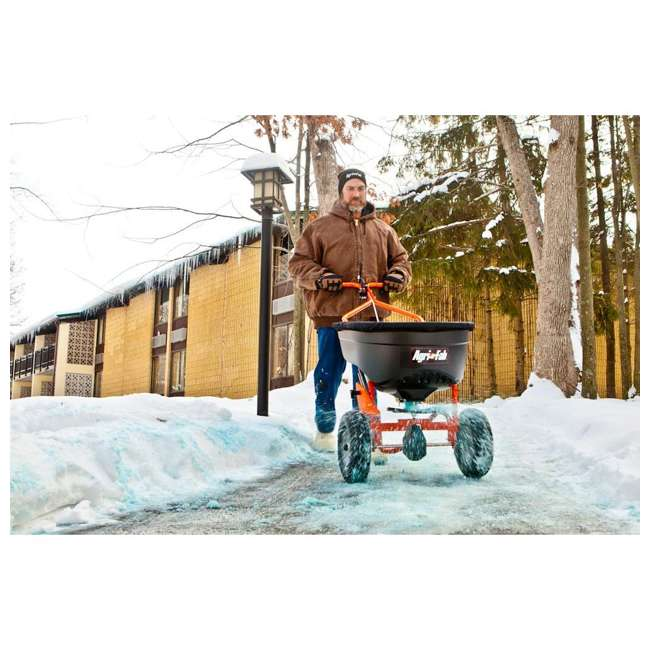 45-0502 Agri-fab 130 Pound Push Spreader for Ice Melt and Fertilizer 5