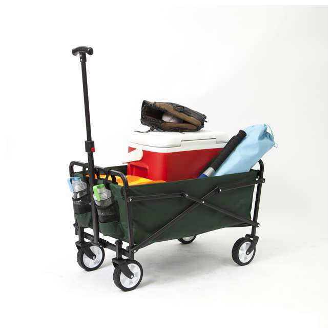 SUW-206-GREEN-U-B Seina Heavy Duty Folding 150 lb Capacity Utility Cart, Green (Used) (2 Pack) 4
