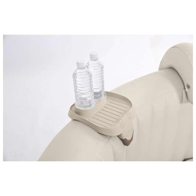 28403VM + 28500E + 28501E Intex PureSpa 4 Person Inflatable Spa Portable Hot Tub with Cupholder & Headrest 6