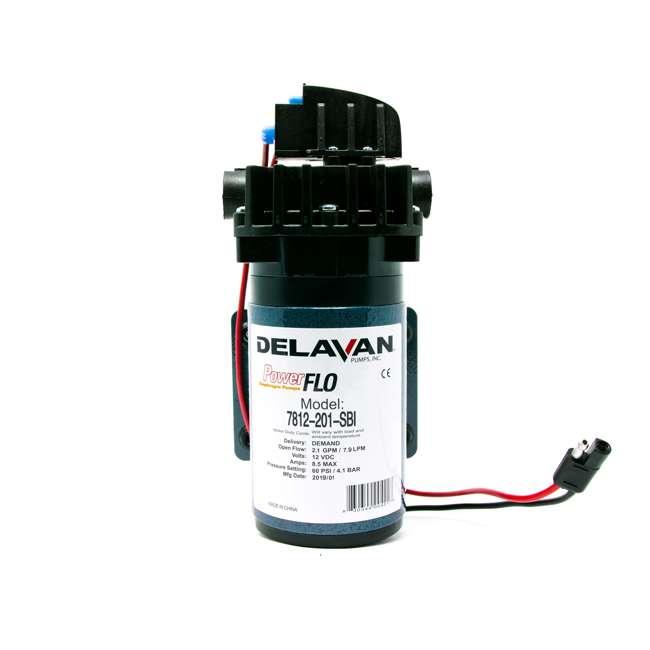 7812-201-SBI Delavan 7812-201-SBI I Series 12 Volt 60 PSI 2.1 GPM On Demand Diaphragm Pump