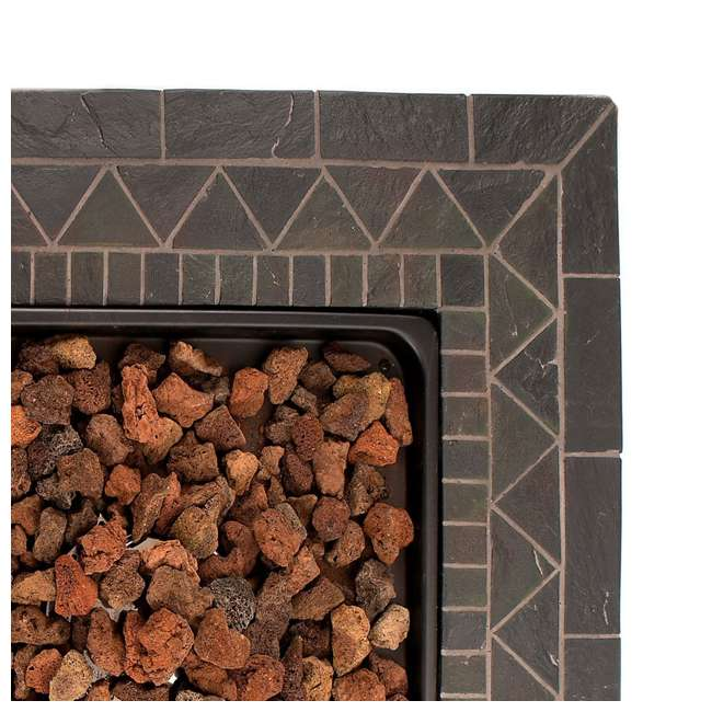 GAD1418M Endless Summer 30 inch Outdoor Gas Lava Rock Patio Fire Pit, Brown (2 Pack) 6