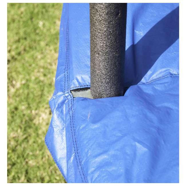 JK10VC1 JumpKing 10 Foot Outdoor Trampoline and Safety Net Enclosure, Blue 10