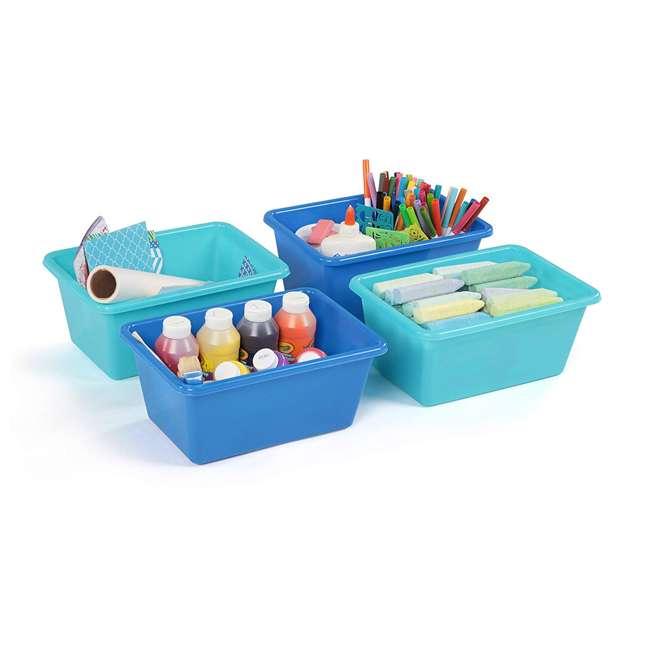 SM098 + SM111 Tot Tutors Plastic Storage Container Bins, Pink/Purple & Blue/Teal (Set of 8) 5