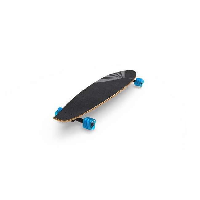 "T8-3022 + 08057-SHARK Triple 8 Dual Certified Skate & Bike Helmet S/M, Blue + Fathom Shark Wheel Pintail 39"" Longboard 11"
