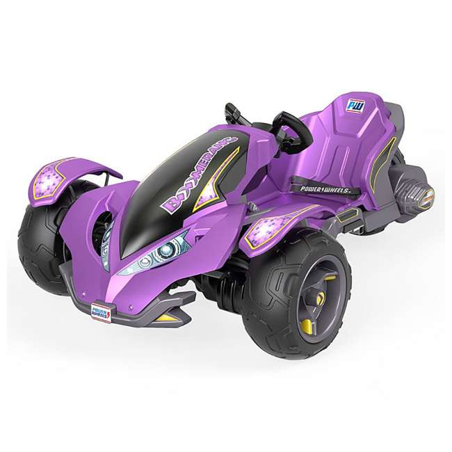 FLC34  Power Wheels Kids Electric Mini ATV Boomerang Ride-On , Purple