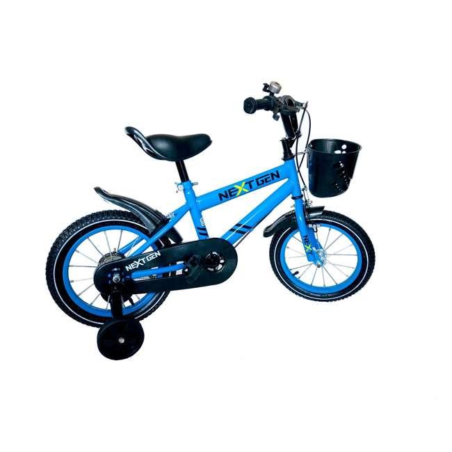 14BK-BLU NextGen 14 Inch Childrens Kids Bike Bicycle with Training Wheels & Basket, Blue 2