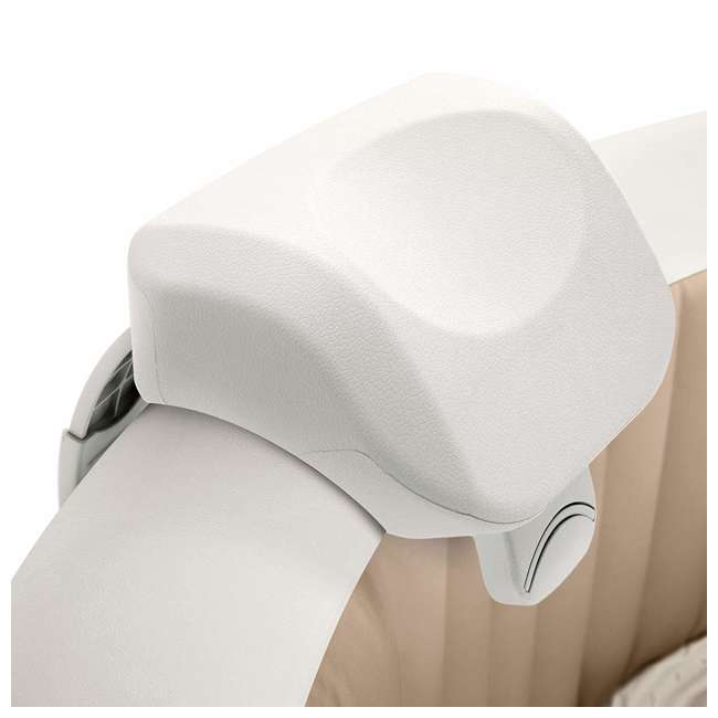 28505E-U-B Intex PureSpa Cushioned Foam Headrest Pillow Hot Tub Spa Accessory, White (Used)