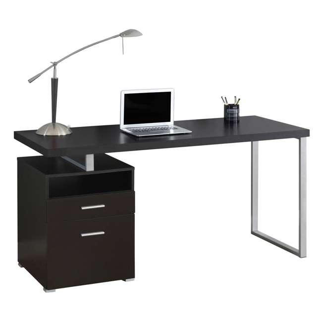 VM-7143 Monarch Specialties 60 Inch Industrial Design Office Computer Desk, Cappuccino