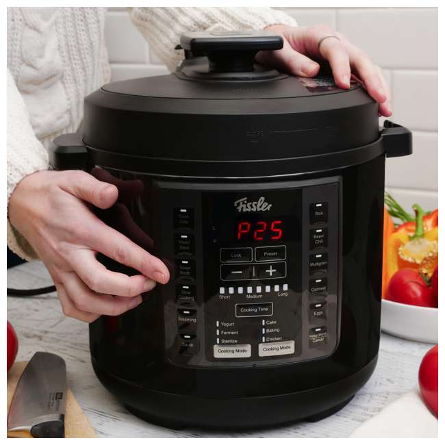 FISS-03520006000-GRAY Fissler Souspreme 6 Quart 18-in-I Program Pressure Cooker Slow Cooking Multi Pot 2