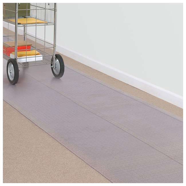 184013 ES Ribbons 10 Feet x 27 Inch Cleated Clear Carpet Floor Runner, Vinyl 4