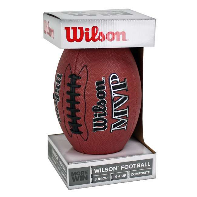 WTF1410ID Wilson MVP Junior Size Leather Football 4