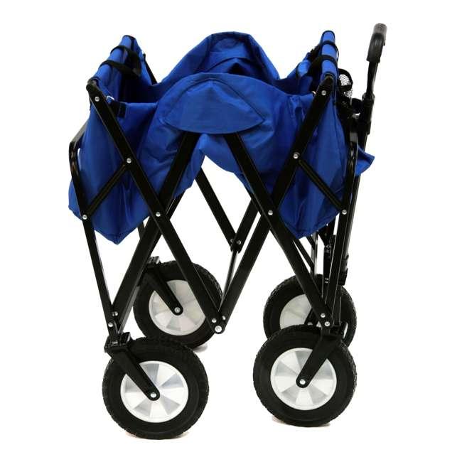 3 x MAC-WTC-111-BLUE-U-A Mac Sports Folding Steel Frame Outdoor Utility Wagon Cart (Open Box) (3 Pack) 3