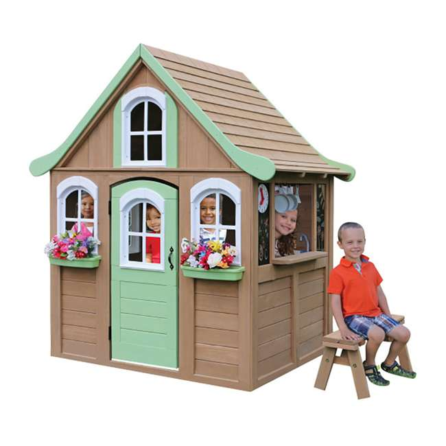 Kidkraft Forestview Kids Outdoor Wooden Playhouse With