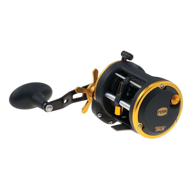 SQL20LW Penn SQL20LW Squall Levelwind Saltwater Fish Trolling Fishing Reel, Black & Gold 1