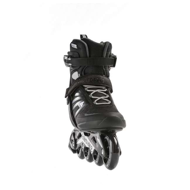 7958600816-9 Rollerblade Zetrablade Adult Mens Beginner Fitness Inline Skates, Size 9, Black 5