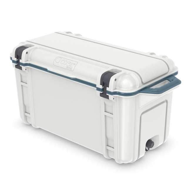 77-54868 Otterbox Venture Heavy Duty Outdoor Camping Fishing Cooler 65-Quarts, White/Blue 2