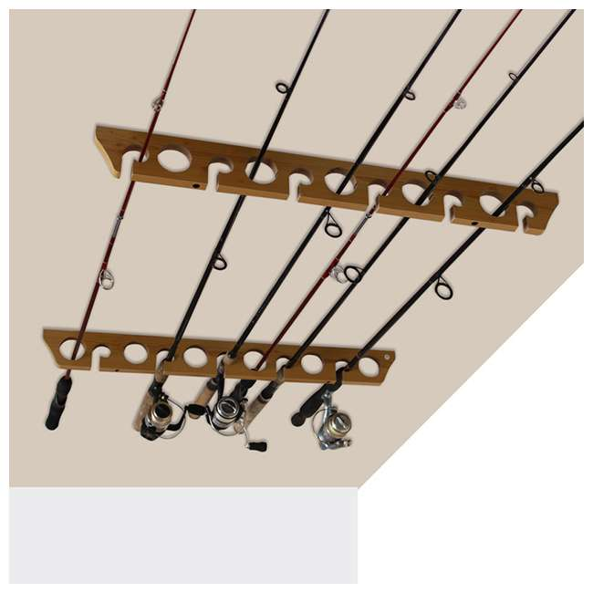 38-3017 Rush Creek Creations 38-3017 2 Piece 11 Pole 3 in 1 Wall and Ceiling Rod Rack 5