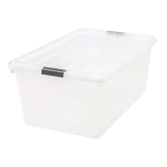 5 x 585380 IRIS USA 585380 68 Qt. Buckle Down Modular Storage Box Container, Clear (5 Pack)