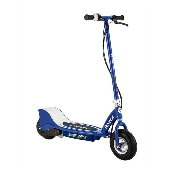 13116310 + 13116312 + 13116341 Razor E325 Adult Electric 24V Ride-On Scooter, White, Silver, and Navy (3-Pack) 3