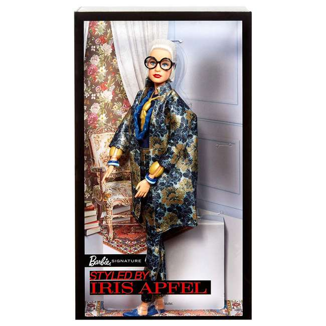 FWJ28 Barbie Collector Styled by Iris Apfel Doll with Multi-Hued Vest and Accessories 5
