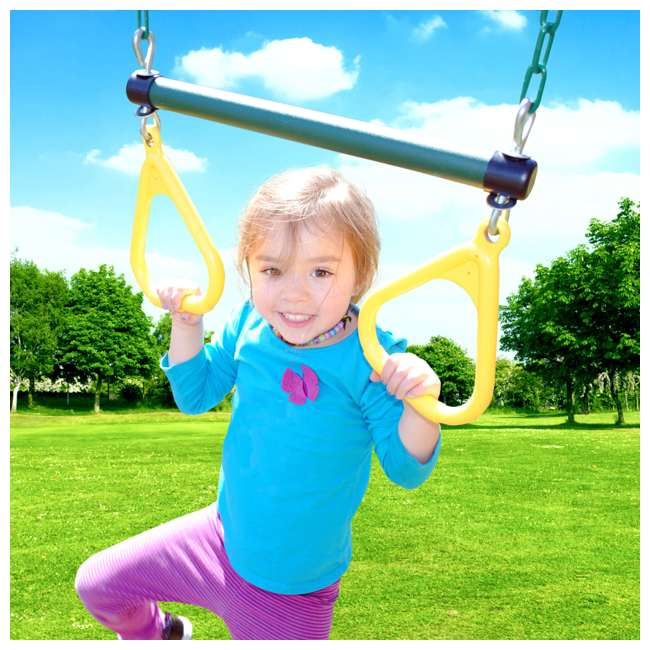 PS18RAL Creative Playthings PS18RAL Raleigh Kids Wooden Outdoor Swing Set Playground 7