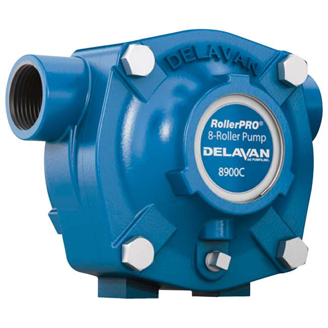 8900C Delavan 8900C 24 GPM 300 PSI Cast Iron 15/16-Inch Shaft 8-Roller Water Pump