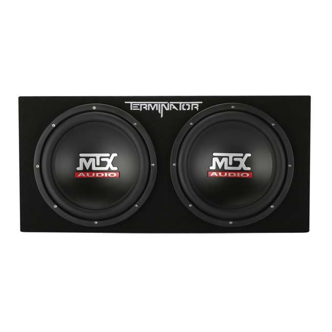 TNP212DV MTX 12-Inch 2000W Dual Loaded Subwoofer Enclosure with Amplifier (2 Pack) 2