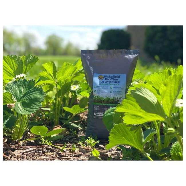 WFBCSC-BAG-40 + WFHERO-CMP-40 Wakefield 1 Cu Ft Biochar Organic Garden Soil Conditioner & 1 Cu Ft Compost 9