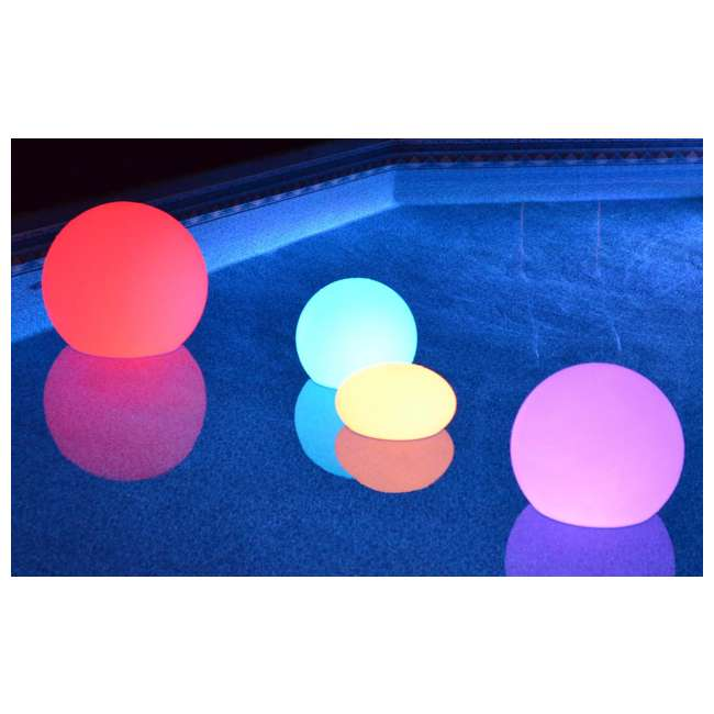 "5 x 131789-U-A Main Access 13"" Waterproof Color Changing Floating LED Light  (Open Box) (5 Pack) 1"