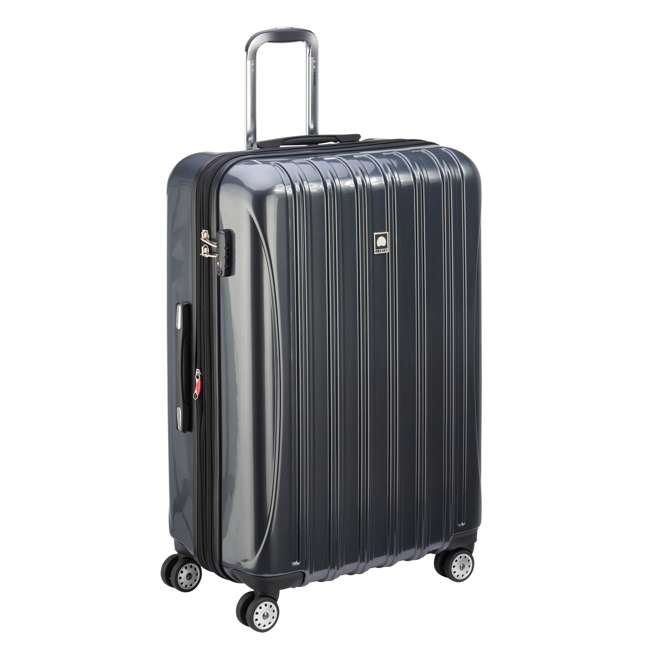 07649PL DELSEY Paris Helium Aero Expandable Rolling Carry On Luggage Suitcase, Gray