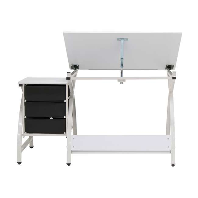 STDN-38016 SD STDN-38016 Comet 2 Piece Craft Table with Adjustable Top and Stool, White 7
