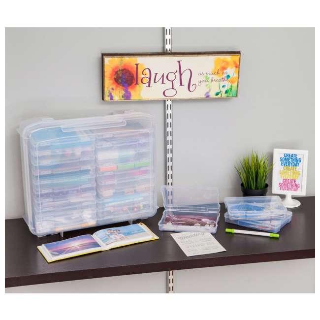 585140 IRIS 585140 5 x 7 Inch Large Photo Craft Keeper Storage Box Organizer, Clear 6