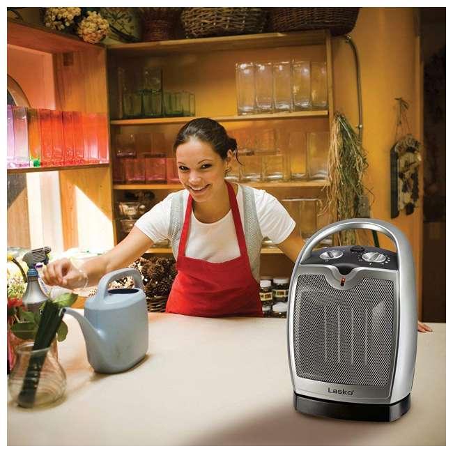 LKO-5409-TN Lasko 5409 Portable Personal Electric 1500W Oscillating Ceramic Space Heater 3