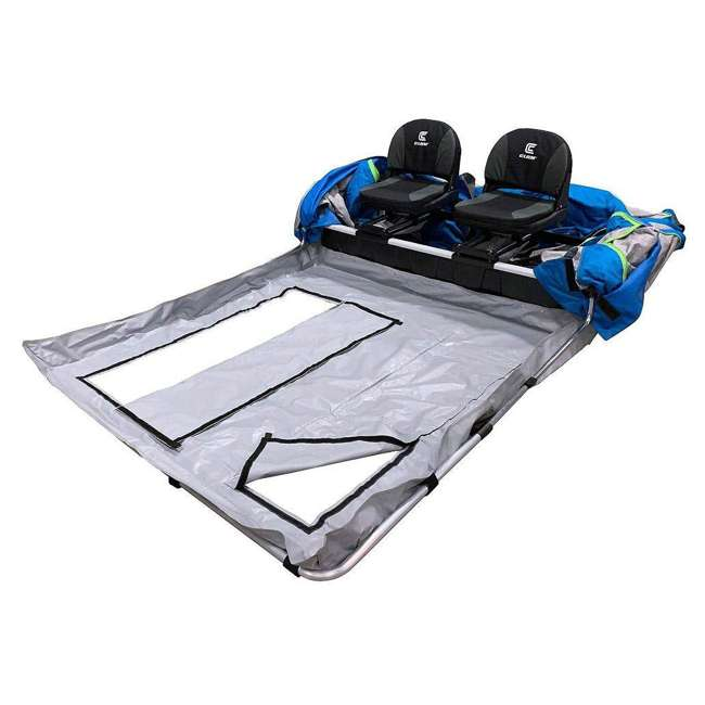CLAM-14512 Clam 14512 Removable Floor for X200/X400 Pro Thermal Fish Trap Ice Fishing Tents 1